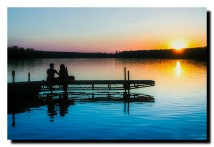 Anibal-Affiliates-RealtyNetWorth-Lake-Shannon-why-I-sell-lakefront-young-couple-at-sunset